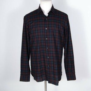 Culturata Italy Tailored Fit Plaid Shirt